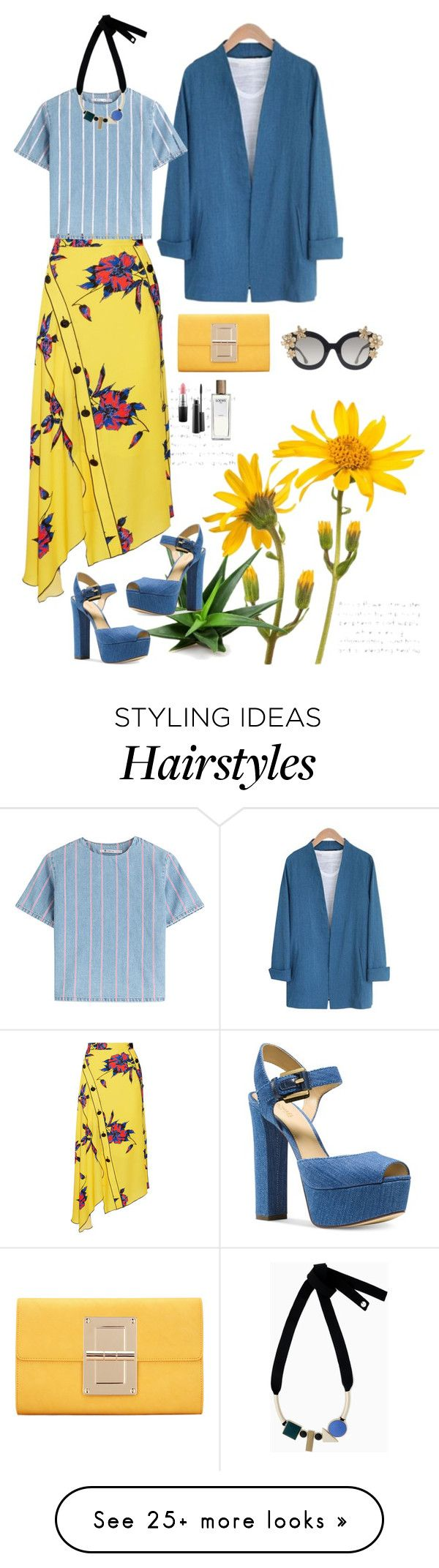 """""""Marc."""" by srtagraham on Polyvore featuring Proenza Schouler, T By Alexander Wang, Michael Kors, Max&Co., Alice + Olivia, MAC Cosmetics and Loewe"""