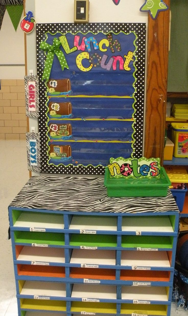 classroom lunch choice ideas | ... mailboxes & also where they make their lunch choice each morning