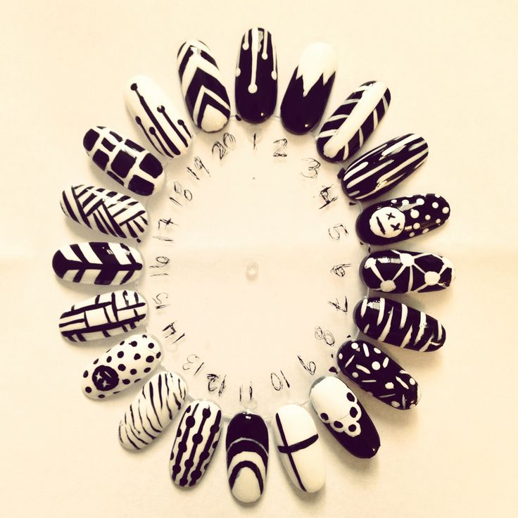 nail-swag:    COACHELLA NAILS BLACK/WHITE SERIES