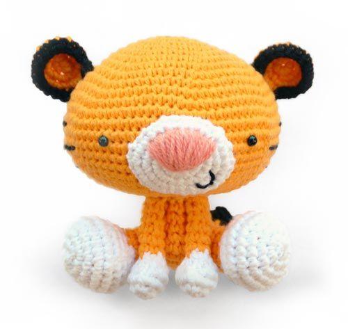 Amigurumi Little Bigfoot Panda : Roary the Tiger Amigurumis Pinterest Livres ...