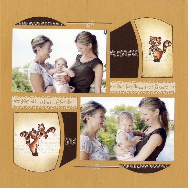Page de Scrap - Bonne fête à toutes les mamans - Gab Mirage