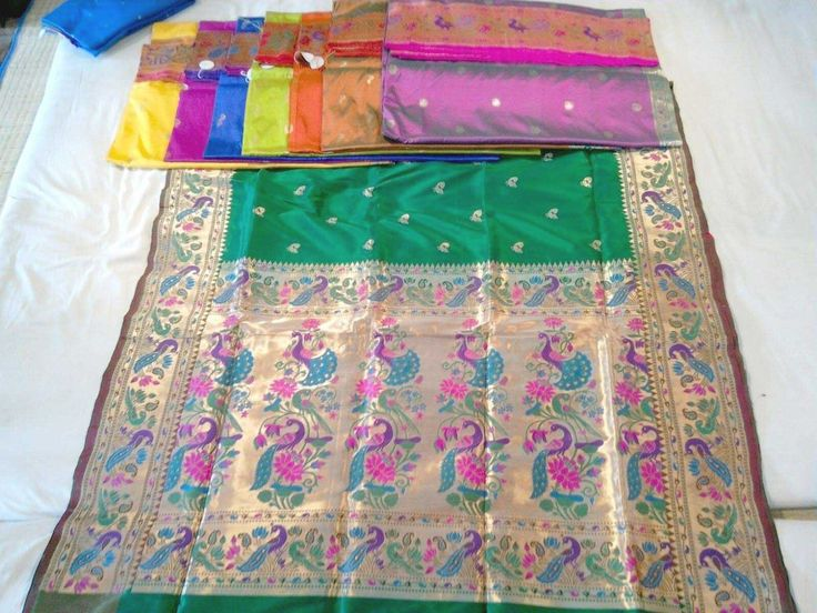 Bottle green rich paithani with brocade borders