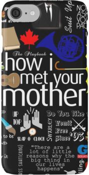 'how I met your mother' iPhone Case by vgreen3