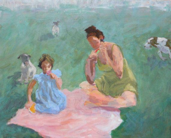 Acrylic Painting Original Art Impressionism by modernimpressionist