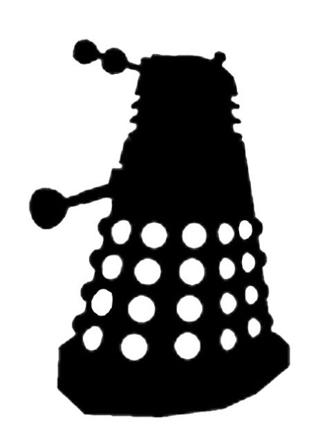 Doodle Craft...: Doctor Who Stencil Silhouette Outline Clipart Mania!