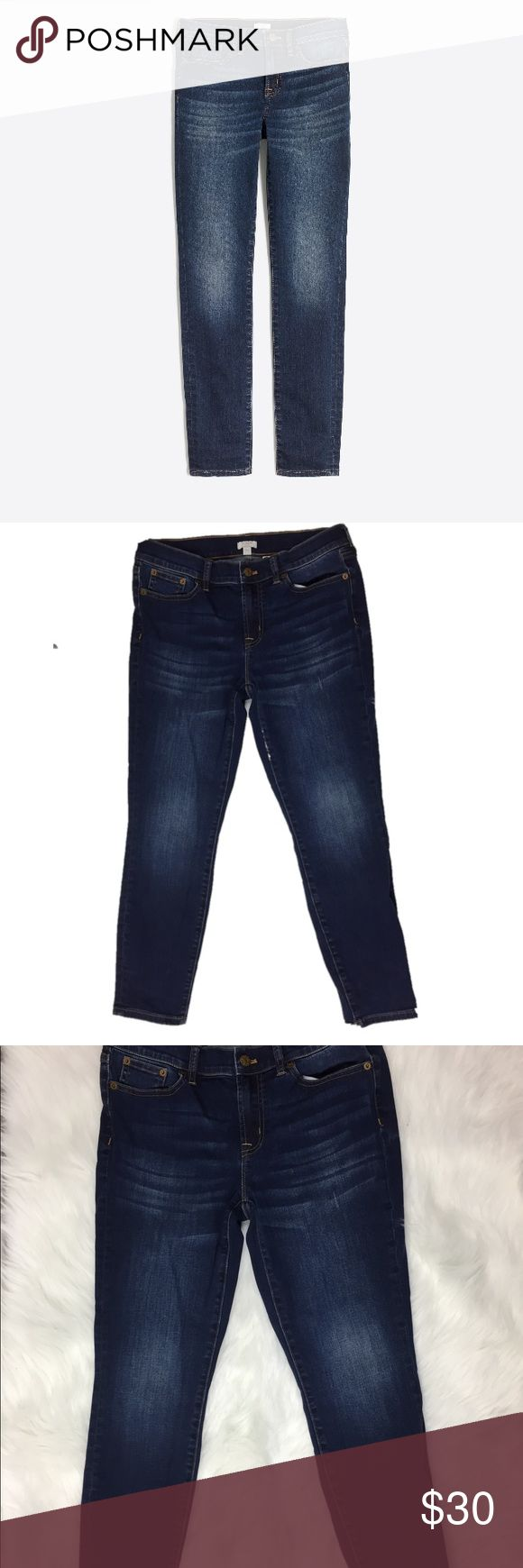 """J. Crew Patriotic Wash Skinny Jeans Size 28 PRODUCT DETAILS  Cotton/poly/elastane.  Sits at hip.  Fitted through hip and thigh, with a superskinny, straight leg.  26"""" inseam.  Traditional 5-pocket styling.  Machine wash.  Import.  Item E7293. J. Crew Jeans Skinny"""