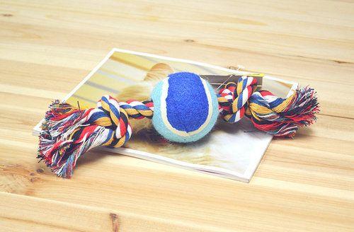 3010 # собака поставки собаки игрушки любимчика игрушки чу узел мяч чистка зубов веревка игрушки с теннис игрушка горячая распродажа 1 шт.