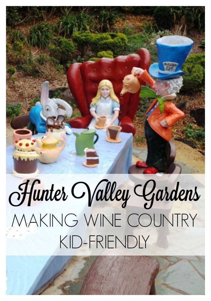 Hunter Valley Gardens - Making Wine Country kid-friendly  #huntervalley #winecountry #familytravel