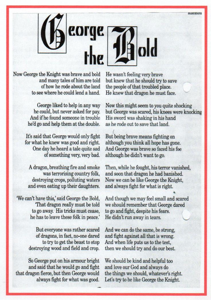 St George poem   Poems, St. george, George