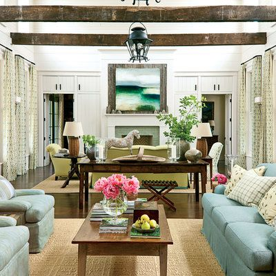 Southern Living Room Designs Add Architectural Living