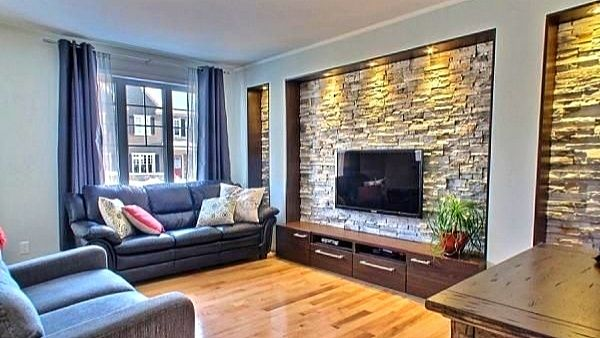 50 Best Stone Wall Decorating Ideas 2021 Modern Living Room Designs Apartment Interior Home Living Room Living Room Designs Stone wall living room decor