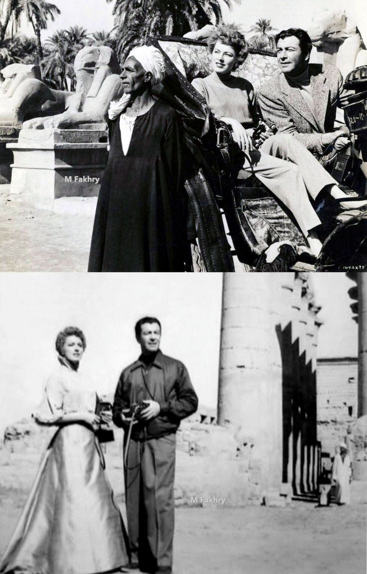 Luxor 1954, American Actress Eleanor Parker And American Actor Robert  Taylor Acting In The Film