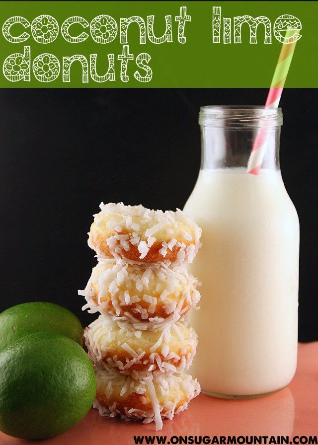 Donuts Recipe, Coconut Limes, Tarts Coconut, Limes Coconut Donuts