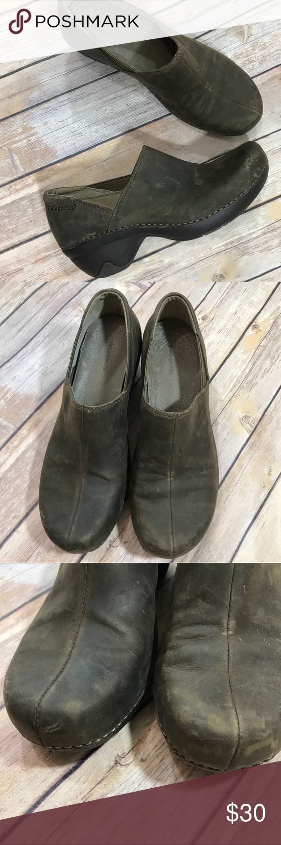 Patagonia better clog work shoe Distressed leather in deep espresso.  Great condition. Patagonia Shoes