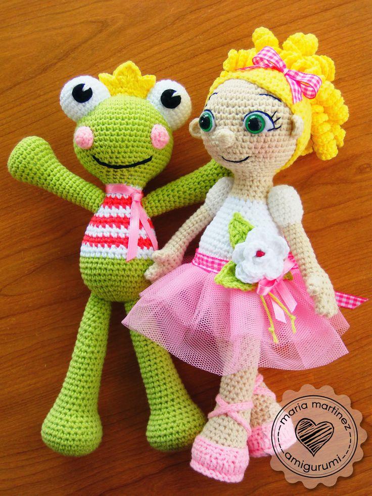 Kawaii Frog Amigurumi : Maria Martinez Amigurumi: Princess Frog & Ballerina Aren ...