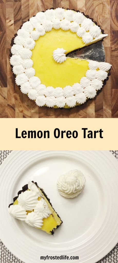 Have you ever tried lemon and chocolate together? This Lemon Oreo tart features a chocolate cookie crust filled with a luscious, tart lemon custard filling. With both lemon juice and lemon zest this tart is full of lemon flavor and will have you going back for more!