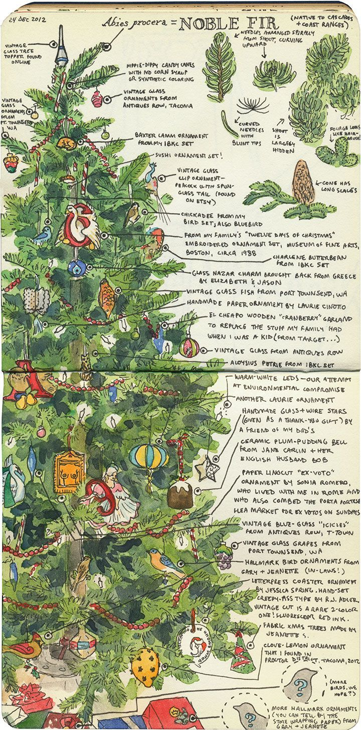 'Christmas tree' (2012) by American artist & illustrator Chandler O'Leary.