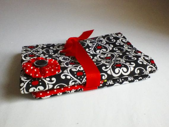 Black, White and a Touch of Red by Linda Buck on Etsy