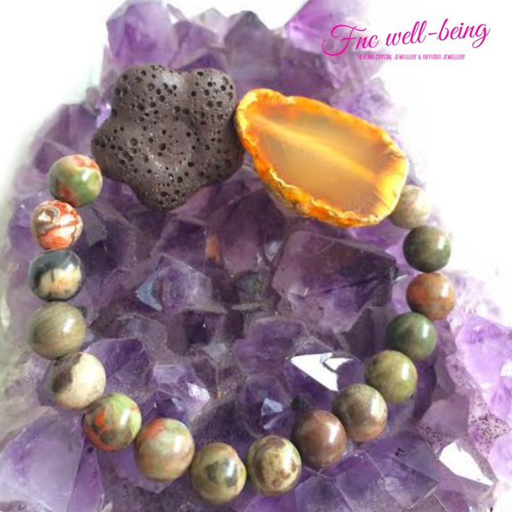 BR205 Agate Jasper Lava Flower Diffuser Bracelet      * Please select your exact measurement of your wrist without adding extra length please, as we use Stretch cord.Just apply 1-3 drops of Therapeutic essential oils on the Lava rocks to enjoy Aromatherapy, reapply when necessary. Cleanse with gentle soap water & let it dry for 2-3 days, before applying different scent of Essential Oil on your Lava.