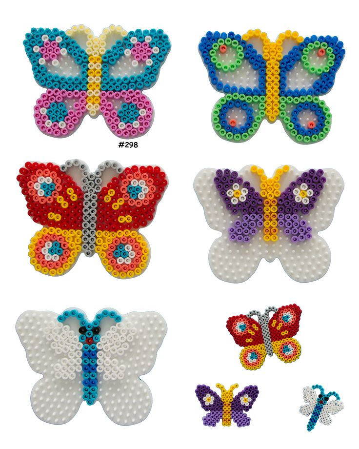 Butterflies Hama perler pattern