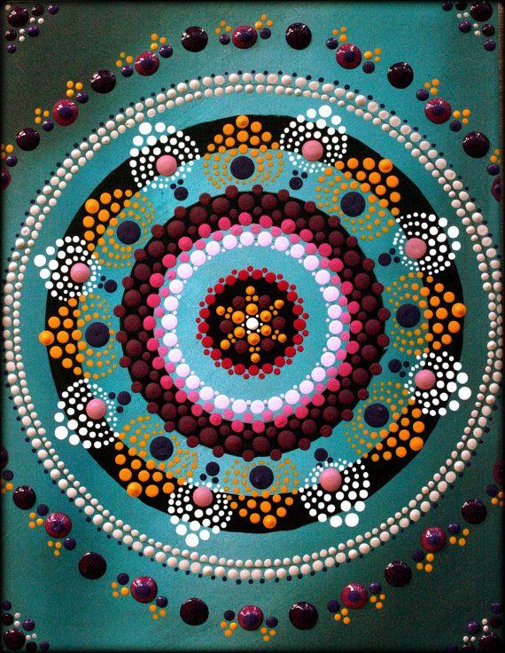 Peinture de Mandala de fleurs de Lotus par par ArtbyKirstyRussell