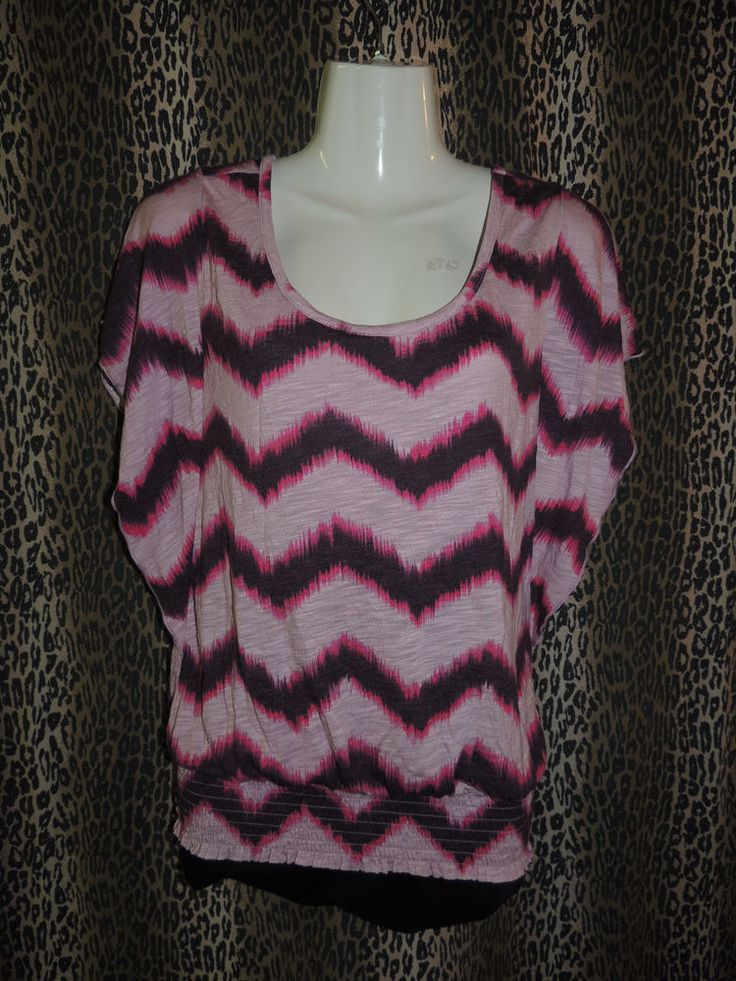 Mudd Jeans Co. Women's Multi-Color Zig-Zag Striped Dress Blouse Top Size S NWT #Mudd #Blouse #Casual