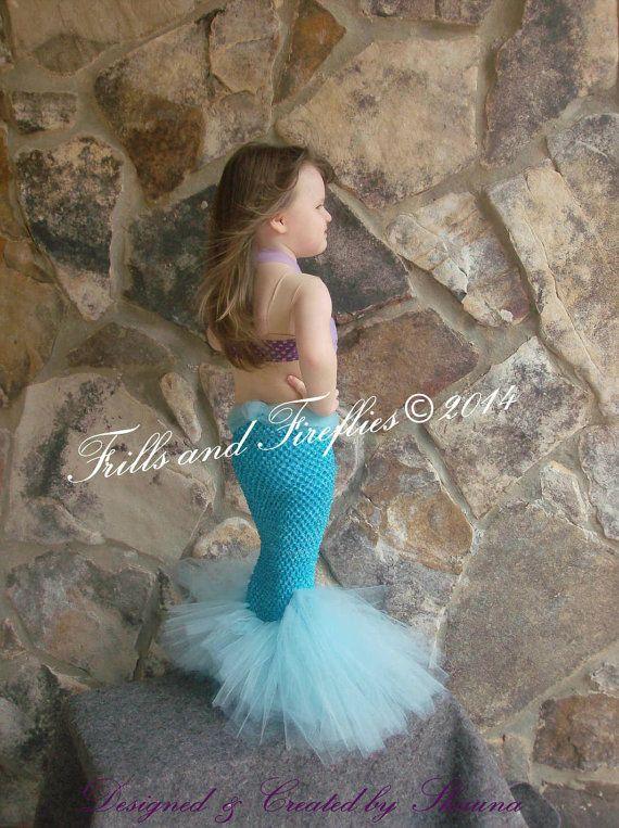 Mermaid Costume Little Mermaid Set w/Flower par FrillsandFireflies