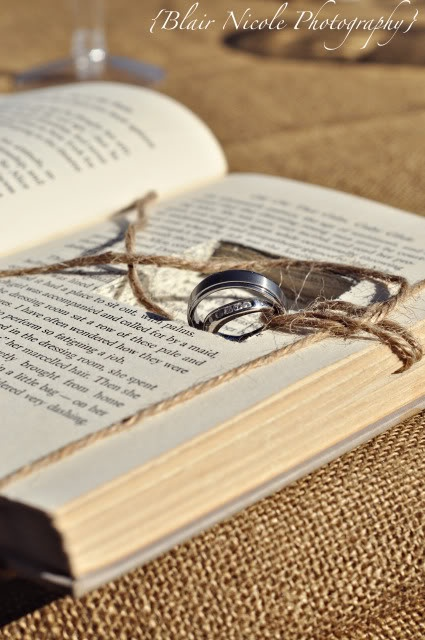book holding rings...to have and to hold