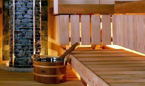Cedar sauna accessories have a pleasant scent!  #SaunaAccessories #CedarAccessories #SaunaBenches #Lauteet #Sauna #Kiuas