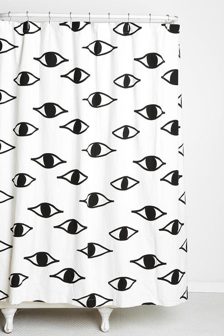 Cortinas De Baño Negras:Shower Curtain Urban Outfitters Magical Thinking