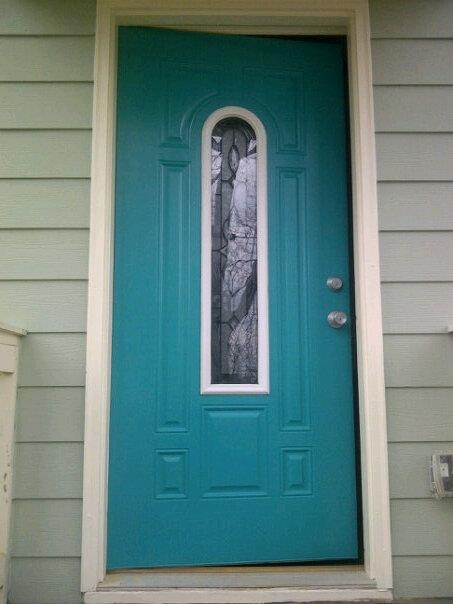 New Front Door Paint Nifty Turquoise By Sherwin Williams