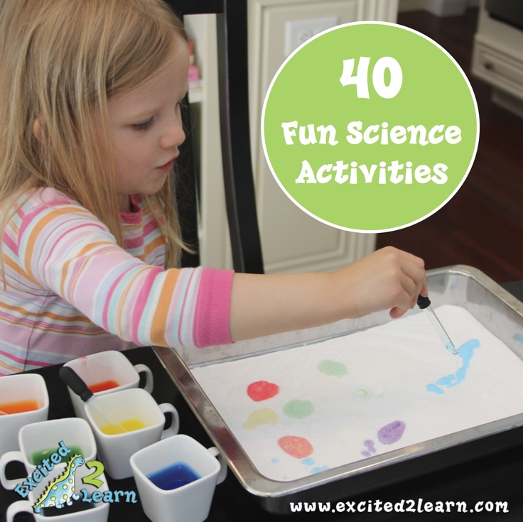 Fun science activities & experiments for kiddos! Excited2Learn- Maybe for a science fair? Or for fun?: 40 Science, Activities For Kids, Science Activities, Science Experiments, Activities Experiments, Summer Fun, Science Fair, Science Fun, Fun Science