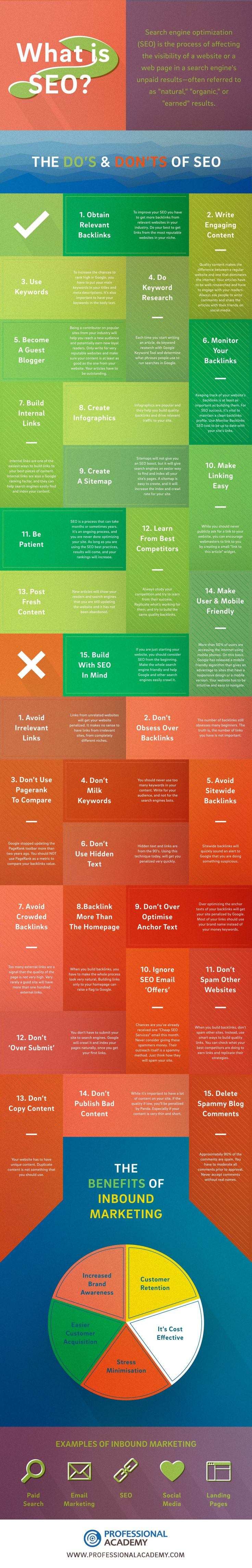 What is SEO? 30 Do's and Don'ts of SEO - infographic - Professional Academy