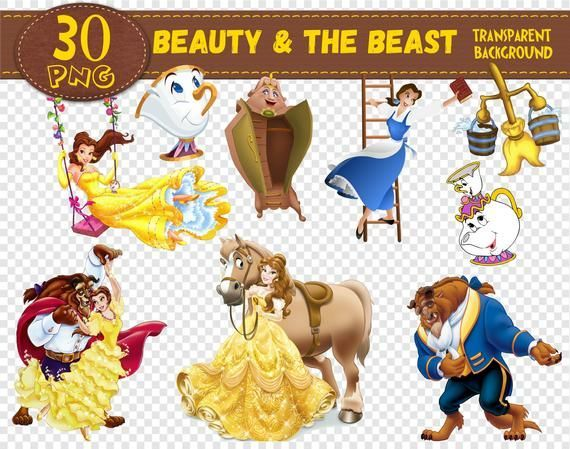 Beauty And The Beast Clipart Beauty And The Beast Characters Beauty And The Beast Png Digital Beauty And The Beast Party Beauty And The Beast Digital Clip Art