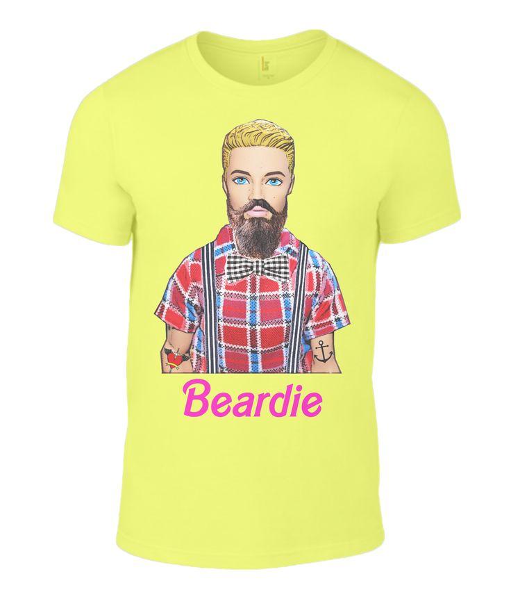 Beardie Men's T-Shirt #Beard #Moustache #Facial Hair #Barbie #Ken #Humour at: www.plasticpam.com