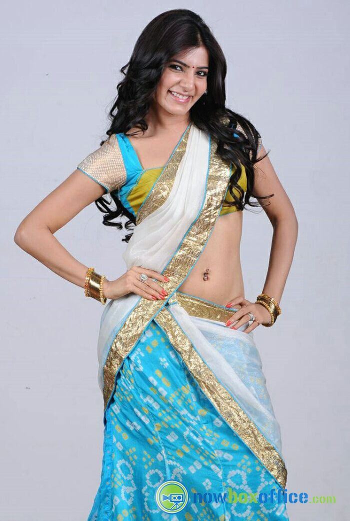 Indian Actress in Saree Collection: Samantha Ruth Prabhu Actress Half Saree Photos