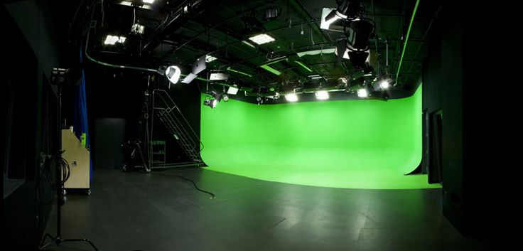 The Video Studio is a versatile space for photo, video, or film. Bring your talent, gear,  crew  produce your best work here. Acoustic tiles cover three walls, the grid lights are pre-set for chroma-keying, and the lighting board is dimmable. Not shooting green screen – no problem. A black floor can be rolled out to cover the green floor  a white or black curtain to cover the green cyc. The studio has been used for:  Music videos  Commercials  How-to videos  Photography  Promos  Interviews