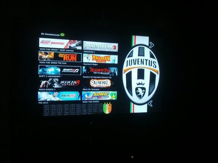 Juventus Theme, DvdMenu xkey360 - Xbox 360