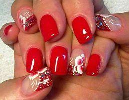 Uñas decoradas, rojo pasion.