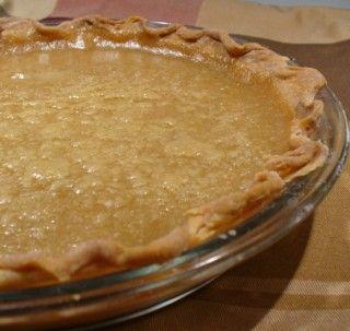 tarte au sucre - sugar pie!