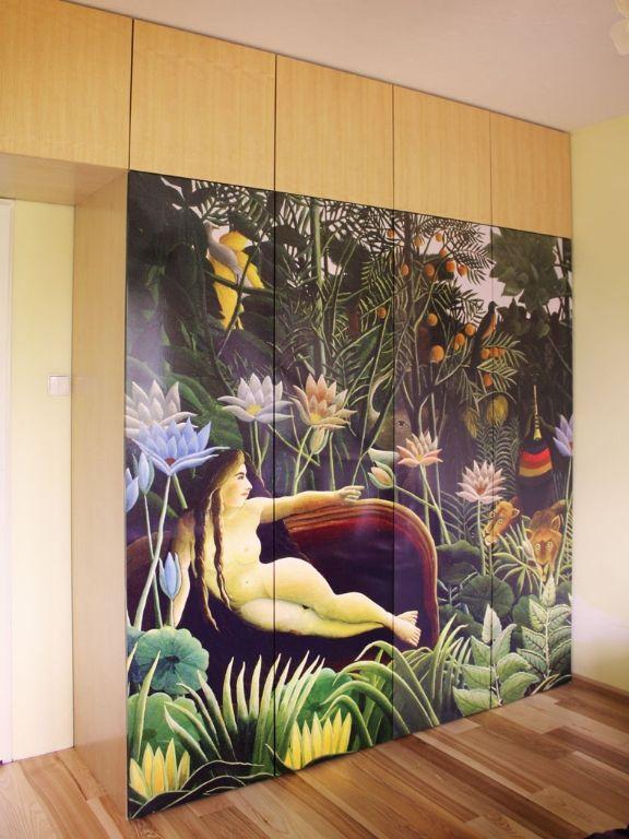 szafa z obrazem i fornirem, Rousseau Henri the dream, wardrobe with picture and veneer #szafa #wardrobe #grafika #obraz #picture #fornir #meble #furniture #dom #home #mieszkanie #new #instasize #szafy #colourful #decor #design #warszawa #poland