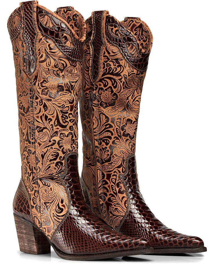 Bota Texana Anaconda Country Feminina Capelli Boots Ref:3104 - R$ 299,90 no MercadoLivre