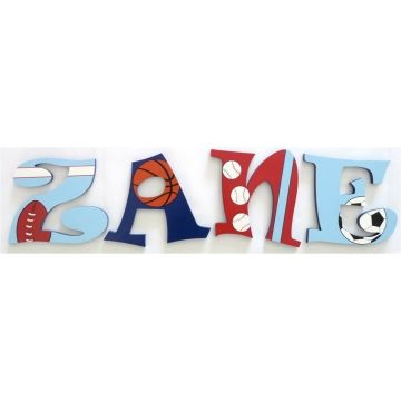 Wooden Alphabet Letters for walls Handpainted and personalised for kids…