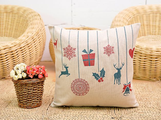 via en.dawanda.com Cushion Covers – Christmas Pillow Cover, Cushion Covers – a unique product by DIYtime on DaWanda