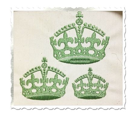 $2.95Small Fleur De Lis Crown Machine Embroidery Design