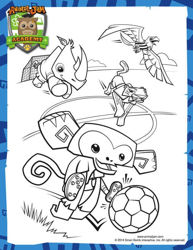 Printable Animal Jam Coloring Pages Cartoon Coloring