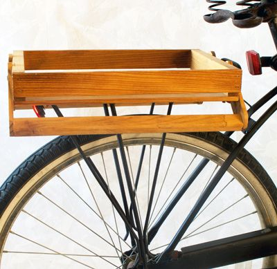 Diy Bicycle Crate On Rear Bike Rack By Ridingpretty Thinking Of Doing This