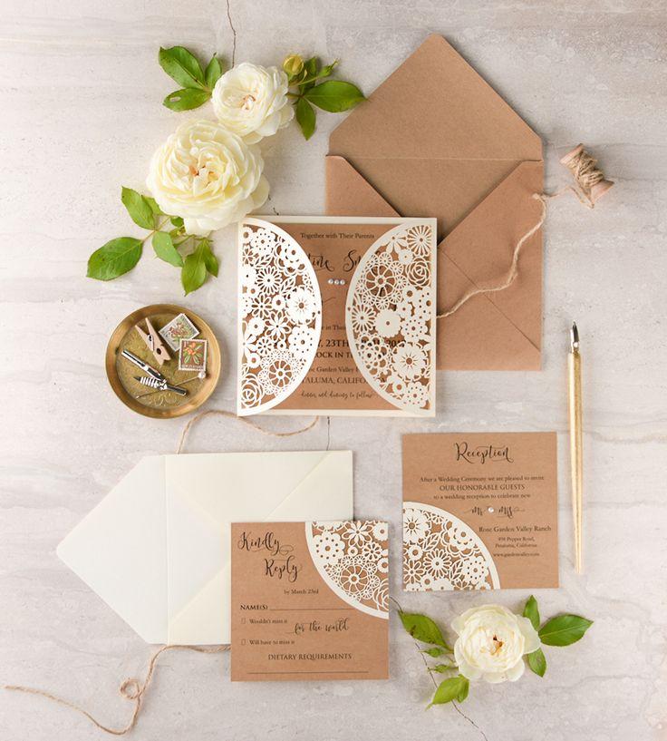 WEDDING INVITATIONS lasercutengraved 21 best Invitatii nunta