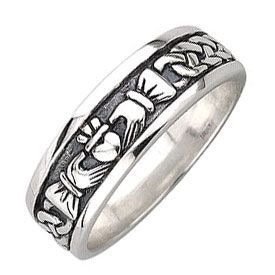 carved any ring size fullxfull band claddagh hands products irish heart il to black zirconium bands clasping celtic