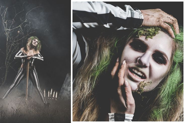 halloween, beetlejuice, extreme, make-up, moss, grave, horror